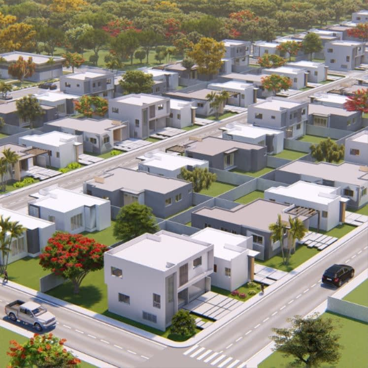 Aerial Rendering of Primaveral lll Project, Punta Cana