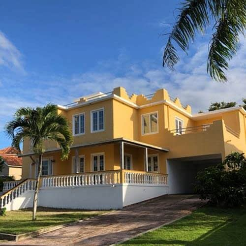 Exterior front of villa for sale